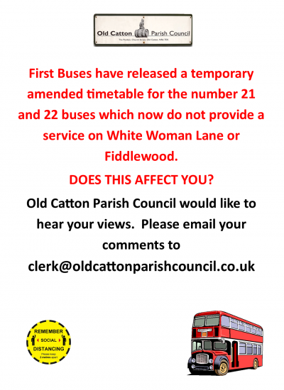 First Buses - amended route for 21 and 22 buses